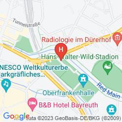 Mapa H4 HOTEL RESIDENZSCHLOSS BAYREUTH