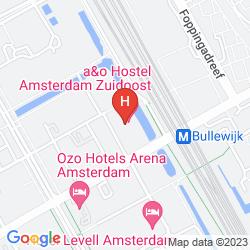 Mapa A&O AMSTERDAM ZUIDOOST