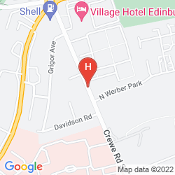 Mapa VILLAGE HOTEL EDINBURGH