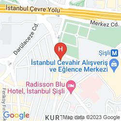 Mapa ISTANBUL MARRIOTT HOTEL SISLI