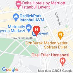 Mapa WYNDHAM GRAND ISTANBUL LEVENT