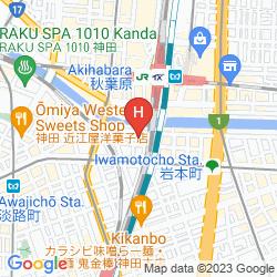 Mapa VIA INN AKIHABARA