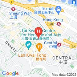 Mapa THE POTTINGER HONG KONG