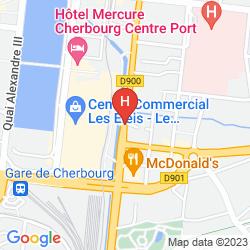 Mapa APPART'CITY CHERBOURG CENTRE PORT