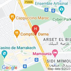 Mapa ROYAL MANSOUR MARRAKECH