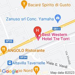 Mapa BEST WESTERN TRE TORRI