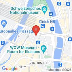 Mapa SCHWEIZERHOF ZURICH