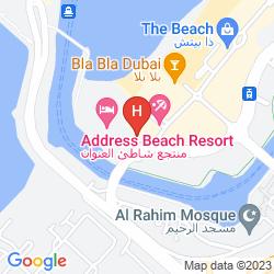 Mapa DOUBLETREE BY HILTON HOTEL DUBAI - JUMEIRAH BEACH