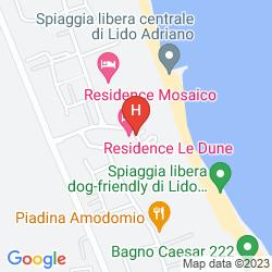 Mapa RESIDENZA LE DUNE