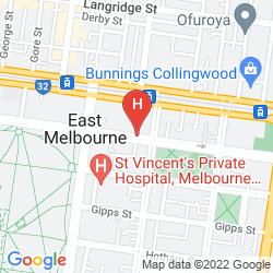 Mapa TRIBECA SERVICED APARTMENTS MELBOURNE