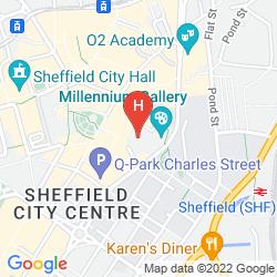 Mapa NOVOTEL SHEFFIELD CENTRE