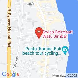Mapa SWISS-BELRESORT WATU JIMBAR