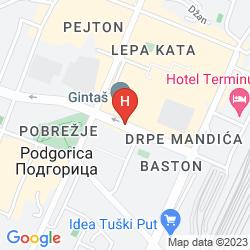 Mapa RAMADA PODGORICA