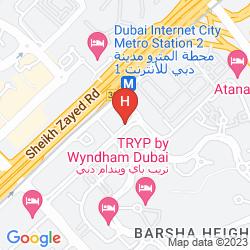 Mapa MERCURE HOTEL SUITES & APARTMENTS BARSHA HEIGHTS