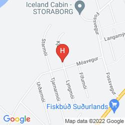 Mapa GUESTHOUSE BJARNEY