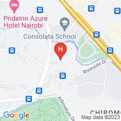 Mapa DUSIT D2 NAIROBI
