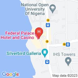 Mapa THE FEDERAL PALACE HOTEL & CASINO