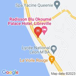 Mapa PARK INN BY RADISSON LIBREVILLE