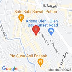 Mapa FONTANA HOTEL BALI, A PHM COLLECTION