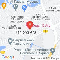Mapa MEGAH D'ARU HOTEL