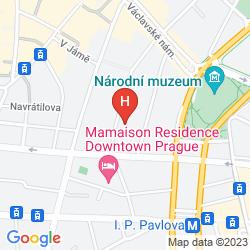 Mapa PRAGUE STAR