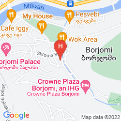 Mapa CROWNE PLAZA BORJOMI