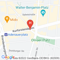 Mapa COME INN BERLIN KURFURSTENDAMM OPERA