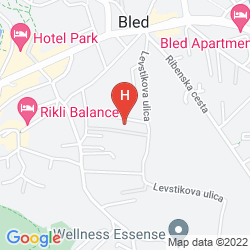Mapa GRAND HOTEL TOPLICE