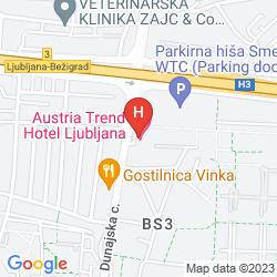 Mapa AUSTRIA TREND HOTEL LJUBLJANA