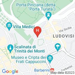 Mapa SOFITEL ROME VILLA BORGHESE