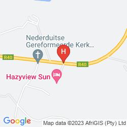 Mapa PROTEA HOTEL HAZYVIEW