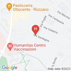 Mapa EXCEL MILANO 3 NEXT