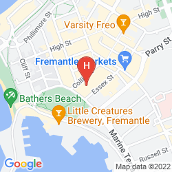 Mapa ESPLANADE HOTEL FREMANTLE - BY RYDGES