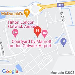 Mapa BEST WESTERN GATWICK SKYLANE