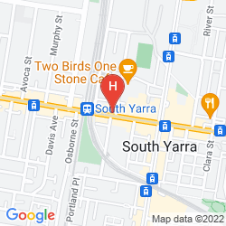 Mapa CLAREMONT GUESTHOUSE SOUTH YARRA