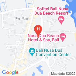 Mapa BALI NUSA DUA
