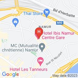 Mapa IBIS NAMUR CENTRE
