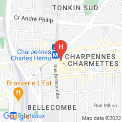 Mapa MERCURE LYON CHARPENNES