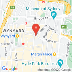 Mapa RADISSON BLU PLAZA HOTEL SYDNEY