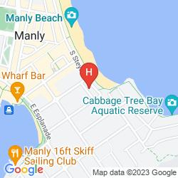 Mapa THE SEBEL SYDNEY MANLY BEACH