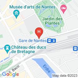 Mapa IBIS STYLES NANTES CENTRE GARE