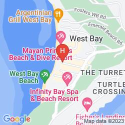 Mapa BANANARAMA DIVE & BEACH RESORT