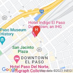 Mapa HOTEL INDIGO EL PASO DOWNTOWN