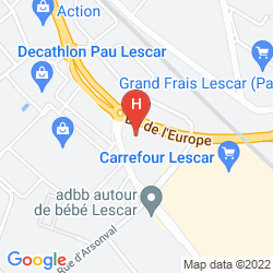 Mapa NOVOTEL PAU PYRENEES