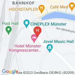 Mapa TRYP MÜNSTER KONGRESSHOTEL