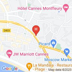 Mapa GOLDEN TULIP CANNES - DE PARIS