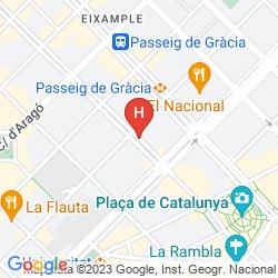 Mapa NH COLLECTION BARCELONA GRAN HOTEL CALDERÓN