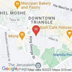 Mapa HILLEL 11 JERUSALEM