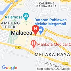 Mapa HATTEN HOTEL MELAKA