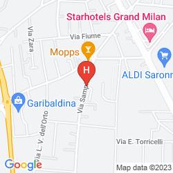 Mapa MALPENSA FIERA MILANO HOSTEL